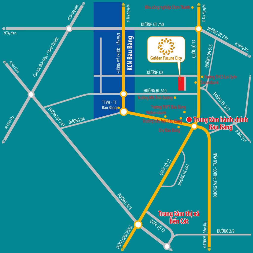 Vị trí đắc địa của dự án Golden Future City